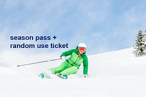 Price list season pass + 10-day ski pass for random use